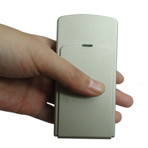 Wholesale Mini Portable Double Frequency GPS Jammer With Built-in Antenna + Light Brown