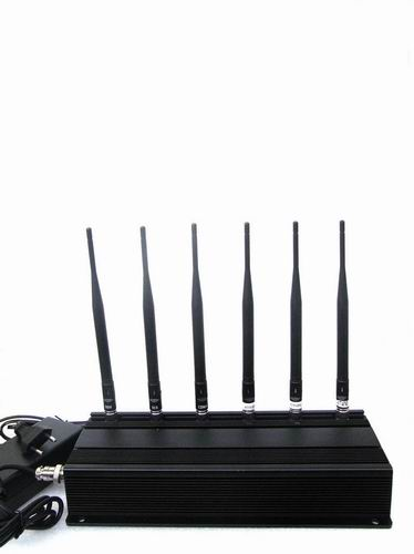 Wholesale 6 Antenna Cell phone,WiFi & RF Jammer (315MHz/433MHz)